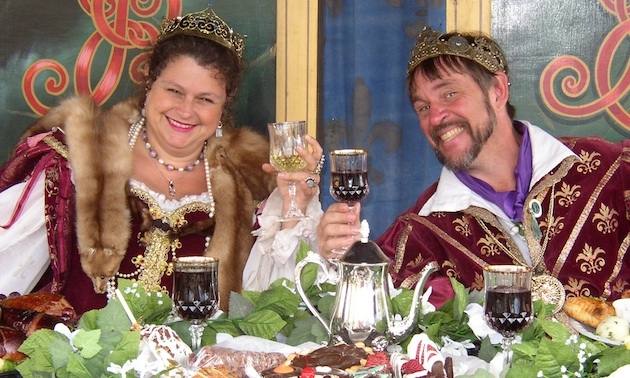 King and Queen at table