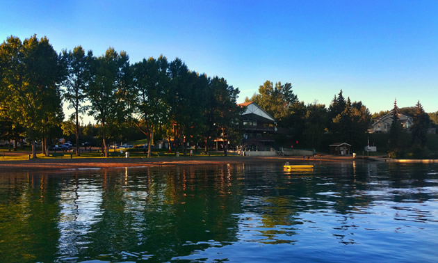 Pine Lake Leisure resort is located on the shores of a tree-lined lake in  central Alberta.
