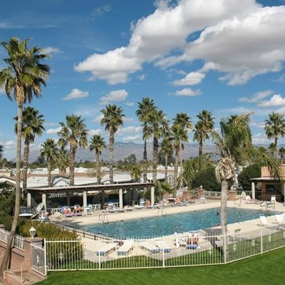 Photo of Rincon Country West RV Resort pool area.