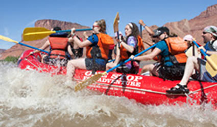 Picture of people river-rafting.