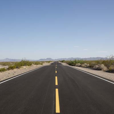 A picture of an open road.