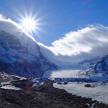 Athabasca glacier presents amazing photo ops.