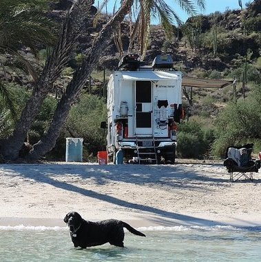 Camping on the beach in Baja