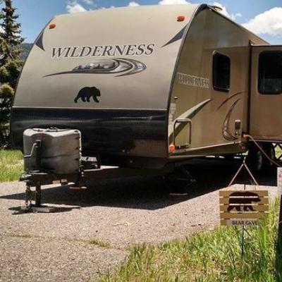 This photo was taken at Fish Lake, Utah, at the Mackinaw campground.