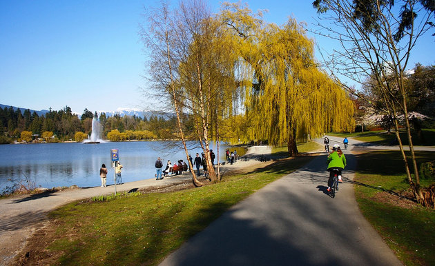 Cycling in Stanley Park is one fantastic way to see Vancouver's sights.
