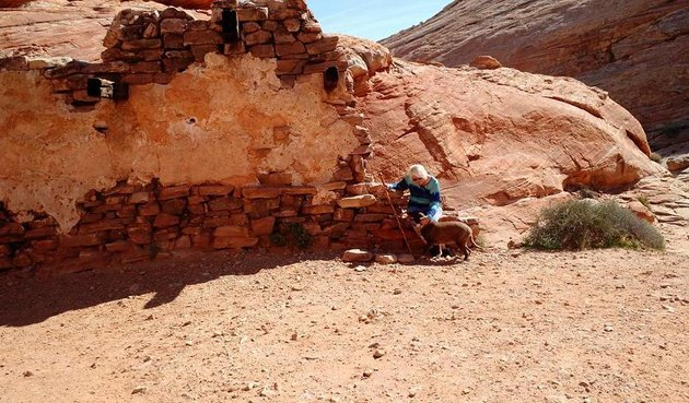 An old movie set for professionals, at the Valley of Fire State Park.