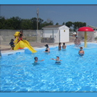 Rubber Ducky Resort has two pools, two hot tubs, scheduled activities, bumper boats, mini golf, two playgrounds and a movie theatre.