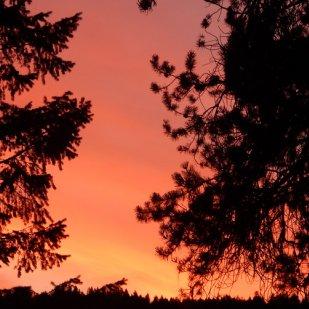 Enjoy the sunset at Lake Koocanusa.