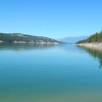 A tranquil Koocanusa lake.  Sue Gillard photo