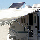 rv hooked up to solar panels