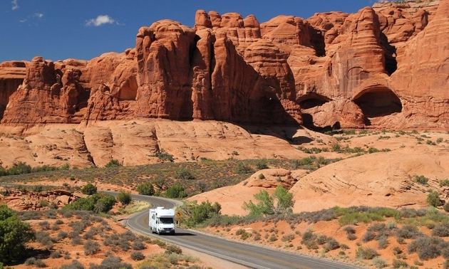rv in the canyons