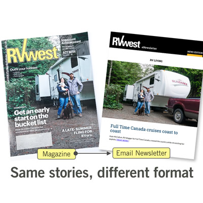 RVwest magazines laid out