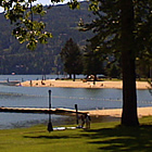 beach in Sandpoint, Idaho