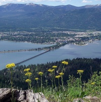 Overlooking Sandpoint, Idaho on the shores of Lake Pend Oreille.
