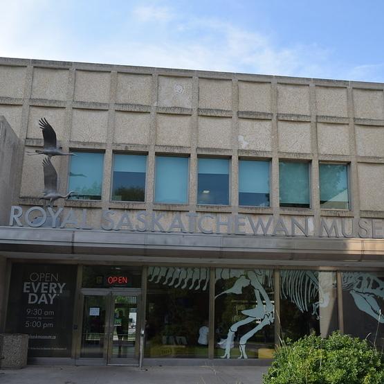 the Saskatchewan museum exterior on a sunny day