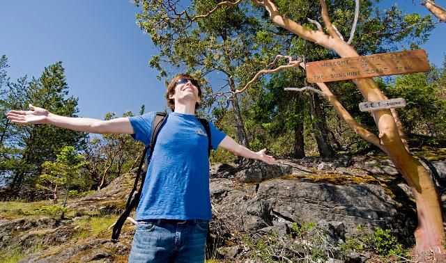 Man in natural setting