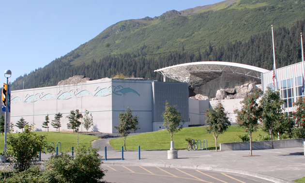 Outside SeaLife Centre in Seward, Alaska.