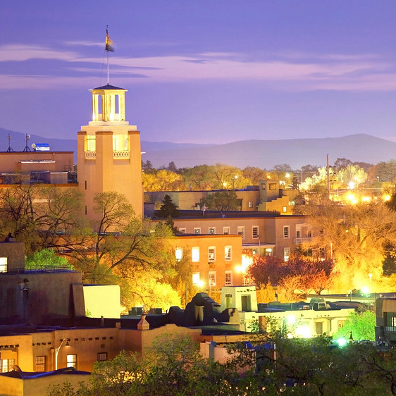 city of Santa Fe at night