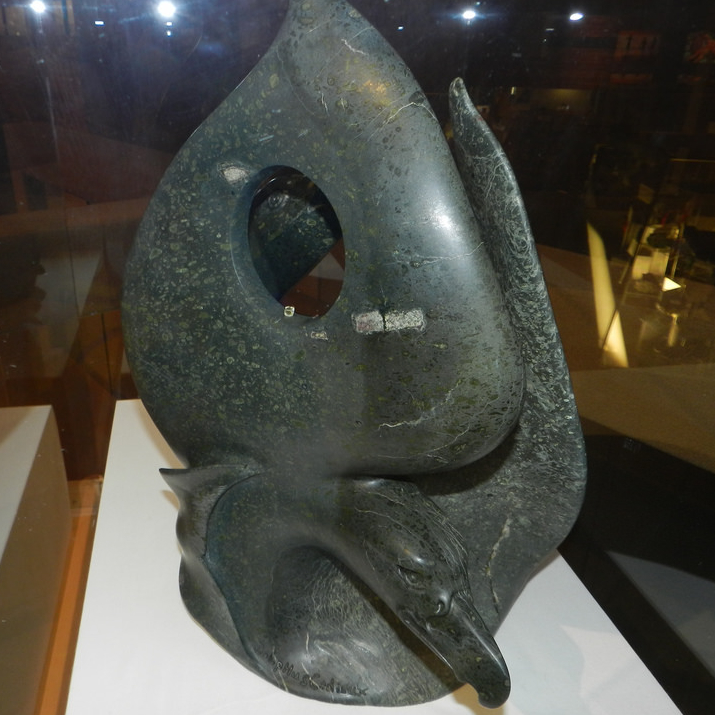 a sculpture made out of kimberlite, called the legendary sky diamond