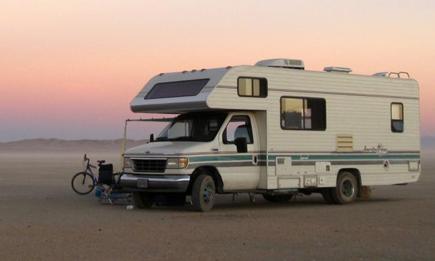 RV in the California desert