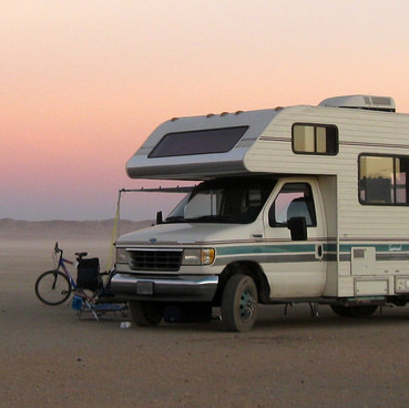 RV in the California desert