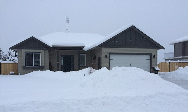 House covered with snow.