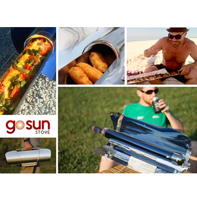 Picture of GoSun camping stoves.