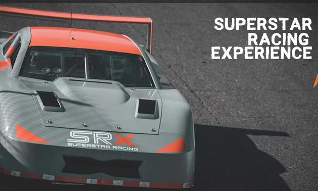 race car on the track