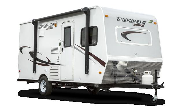Photo of a starcraft RV trailer.