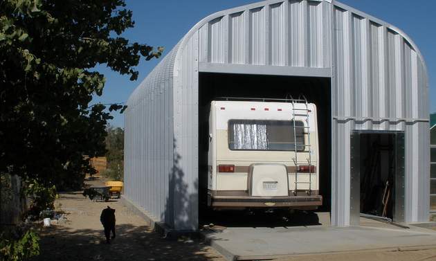 Be sure to store your RV in a safe, secure location.