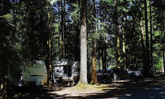 Sunnyside Campground in Cultus Lake.