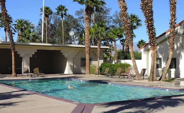 pool at Sands Resort, Desert Hot Springs, California.