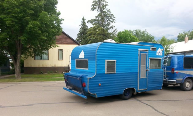A 1967 Tee-Pee trailer owned by Terri Mason.