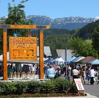 The Skeena Valley Farmers Market in Terrace attracts a bustling crowd.
