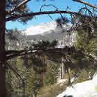Snow on the San Jacinto Mountains