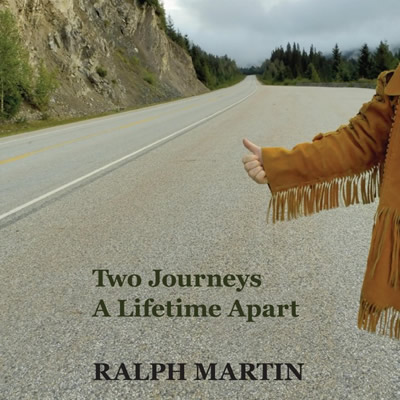 A picture of Ralph Martin with the cover of his new book