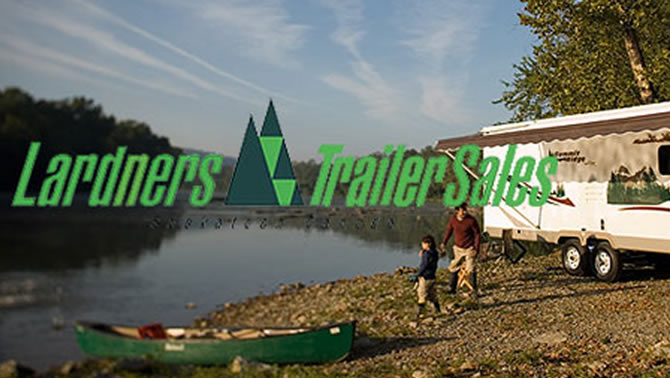Picture of trailer at campsite