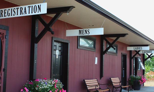 The replica 1905 CP train station
