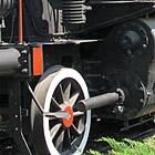 restored black steam locomotive