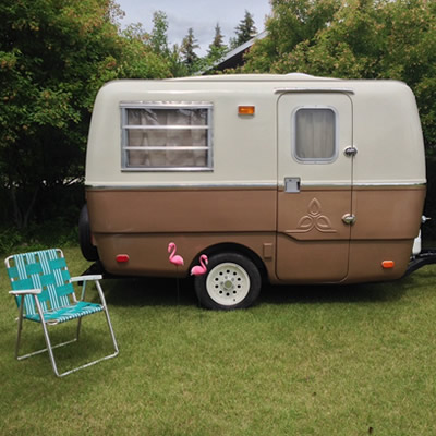 A 1975 Trillium Trailer, fully restored over the course of 8 months.