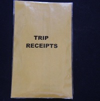 Trip receipts envelope.