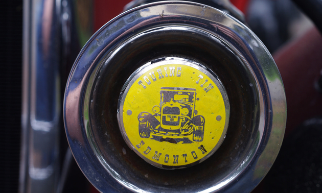 One of the original Touring Tin decals, Photo by Timothy Fowler