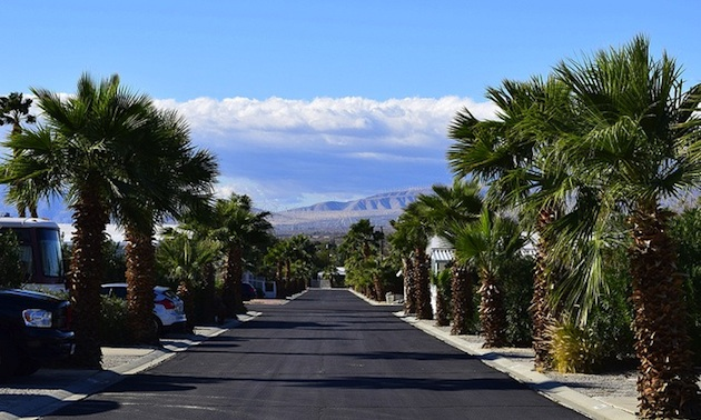 A typical street at the Sands Resort.
