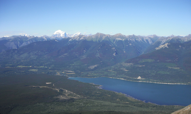 Shown is a panoramic view from Canoe Mountain.
