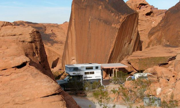 RV in the Valley of FIre
