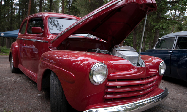 Bert Beckman's Vermillion Red 1946 Ford Two Door Sedan Photo by Timothy Fowler