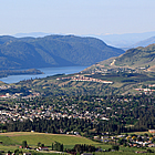 aerial photograph of Vernon, BC