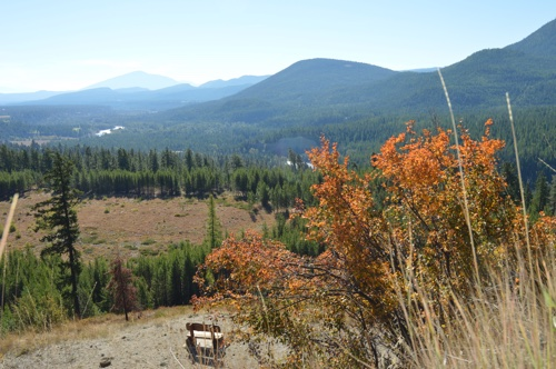 The view from the top of sunflower hill near Kimberley, B.C.