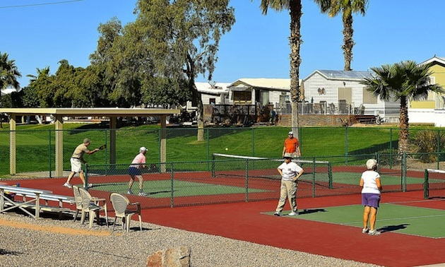 Pickleball is a popular activity.