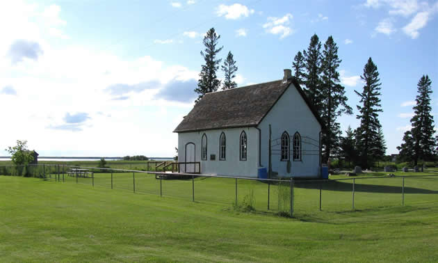 All Saints Anglican Church next to East Shoal Lake.